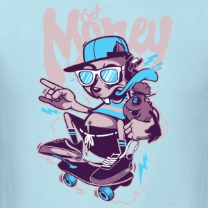 skater skate inscription dog get money - Men's T-Shirt