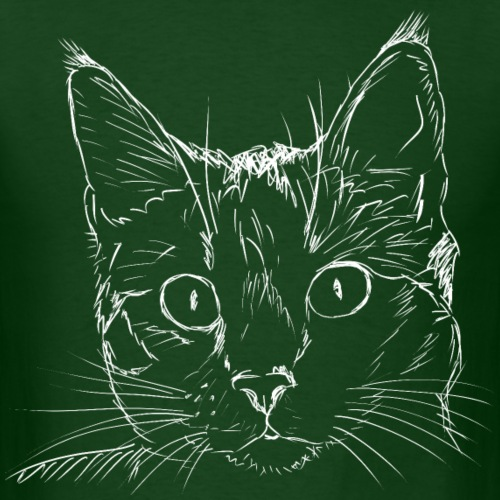 Cat Head | White - Men's T-Shirt