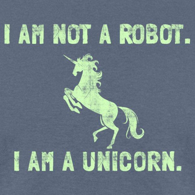 unicorn tall light green