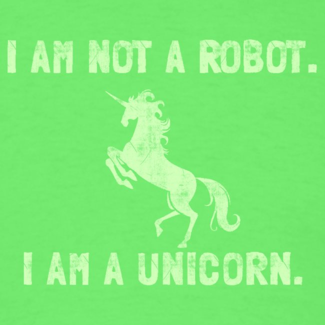unicorn tall light green