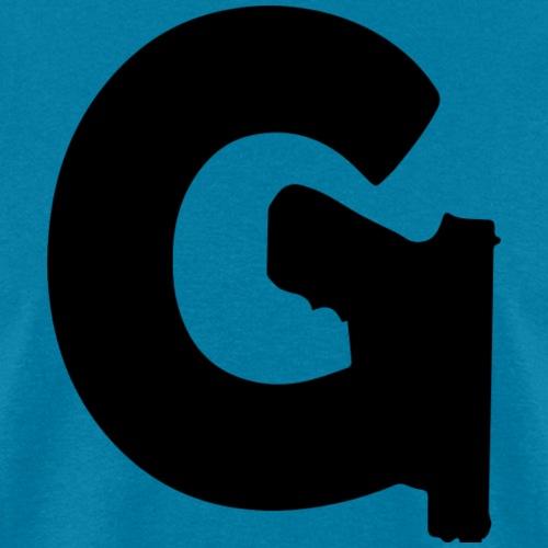 Gun Channels Logo Black - Men's T-Shirt
