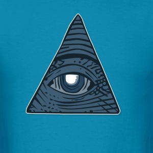 Illuminati All Seeing Third Eye - Men's T-Shirt
