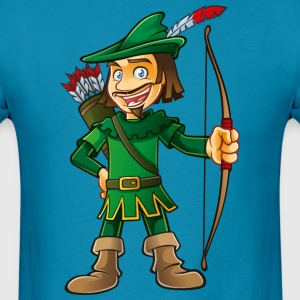 Robin Hood-arrows-bow-tale - Men's T-Shirt