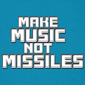 Music_not_missiles - Men's T-Shirt