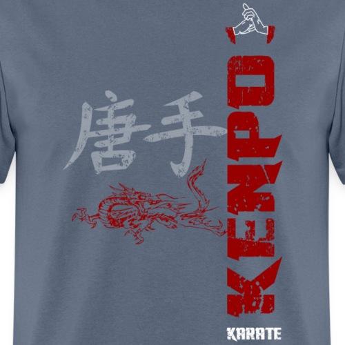vertical kenpo with chinese kanji dragon red - Men's T-Shirt