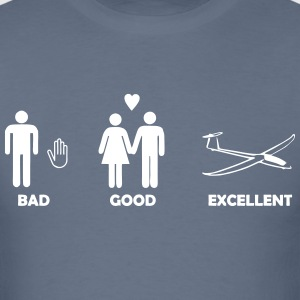 bad good excellent soaring - Men's T-Shirt