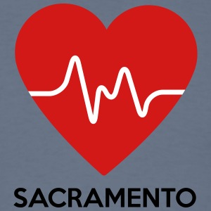 Heart Sacramento - Men's T-Shirt