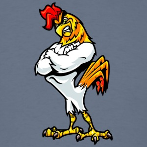 muscular_rooster_white - Men's T-Shirt