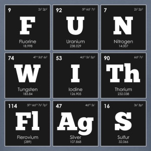 Periodic Elements: Sheldon's FUN WITh FlAgS - Men's T-Shirt