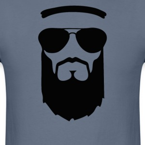 beard muslim face head sunglasses - Men's T-Shirt