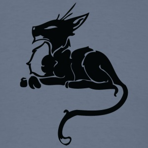 Black_cat_from_side - Men's T-Shirt