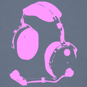 PILOT HEADPHONES PINK - Men's T-Shirt