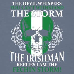 The devil whispers You can't withstand the storm - Men's T-Shirt