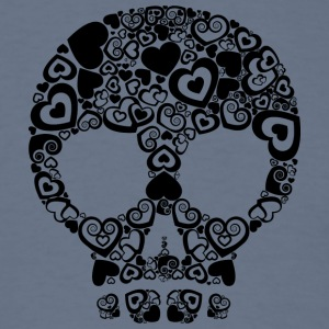 Skull_and_hearts - Men's T-Shirt