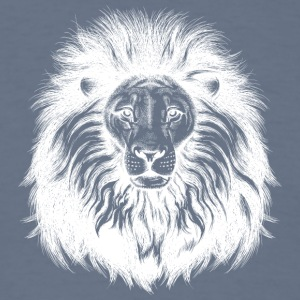 lion_with_big_hair_white - Men's T-Shirt