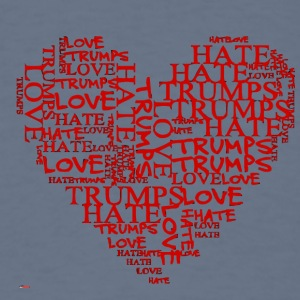 Love Trumps Hate Red Heart - Men's T-Shirt