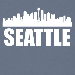 Seattle WA Skyline - Men's T-Shirt