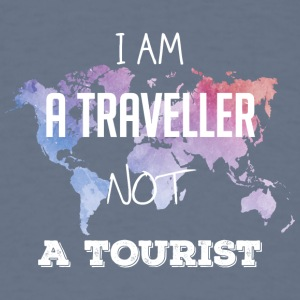I am a traveller not a tourist - Men's T-Shirt