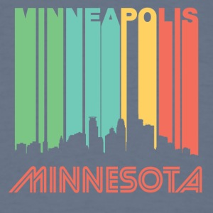 Retro Minneapolis Skyline - Men's T-Shirt