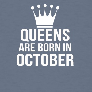 queens are born in october - Men's T-Shirt