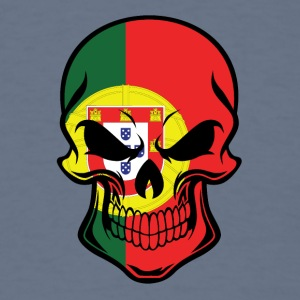 Portuguese Flag Skull - Men's T-Shirt