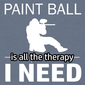 Paint Ball is my therapy - Men's T-Shirt