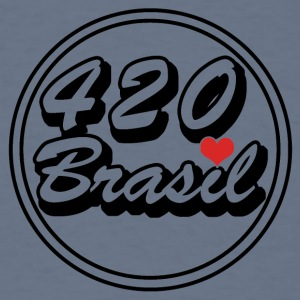 420 Logo Brasilien Heart - Men's T-Shirt