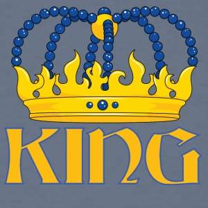 Yellow blue king crown - Men's T-Shirt