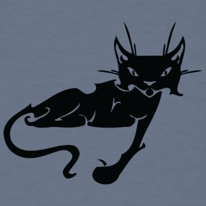 Black_laying_cat_looking - T-shirt pour hommes