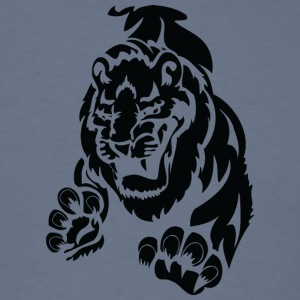scary_big_lion_black - Men's T-Shirt