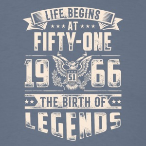 Life Begins at Fifty-One Legends 1966 for 2017 - Men's T-Shirt