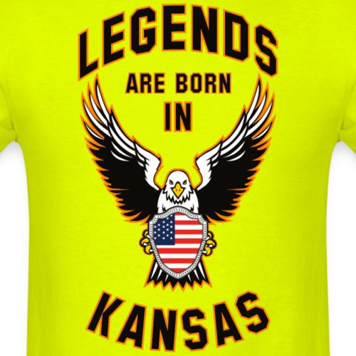 Legends are born in Kansas - Men's T-Shirt