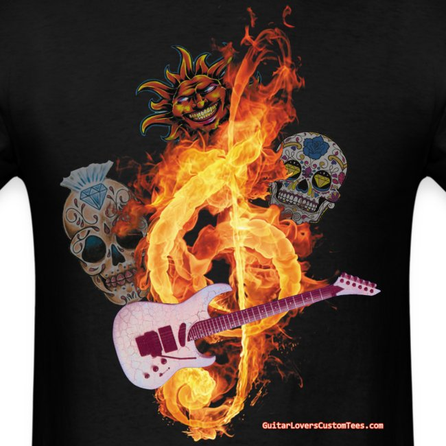 GuitarFireClef by GuitarLoversCustomTees png