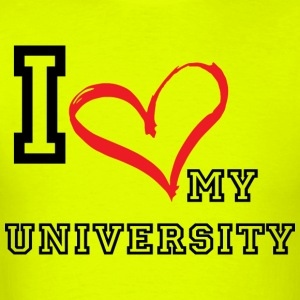I_LOVE_MY_UNIVERSITY - Men's T-Shirt