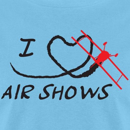 I Heart Airshows (Black Text) - Men's T-Shirt