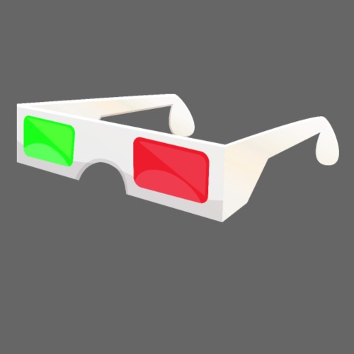 3D red green glasses - Men's T-Shirt