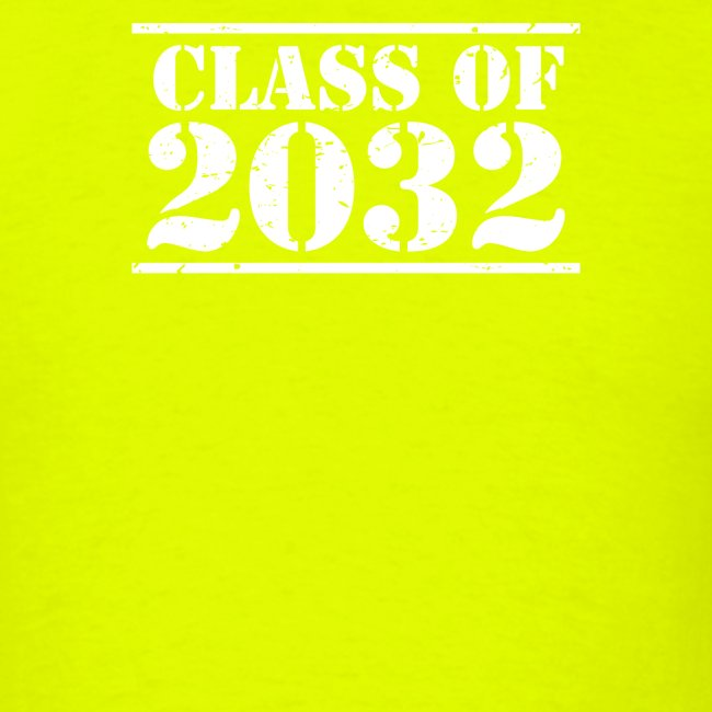 Class of 2032 Kindergarten Grad distressed logo