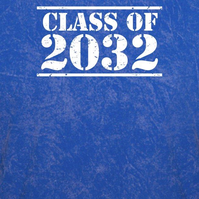 Class of 2032 Kindergarten Grad distressed logo