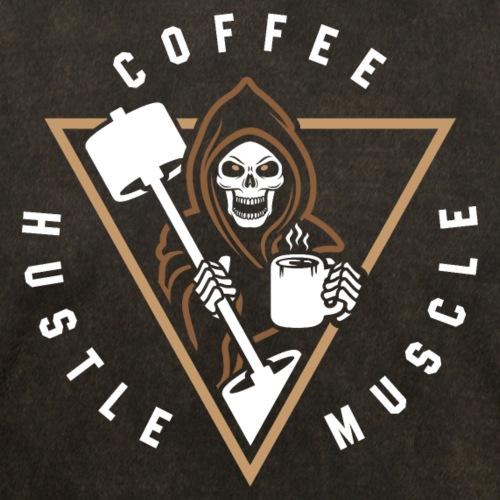 Coffee Hustle Muscle Grim Reaper - Men's T-Shirt