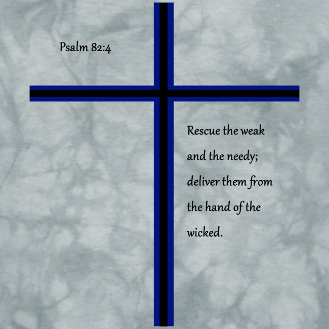 Blue Black Cross Psalm 82:4