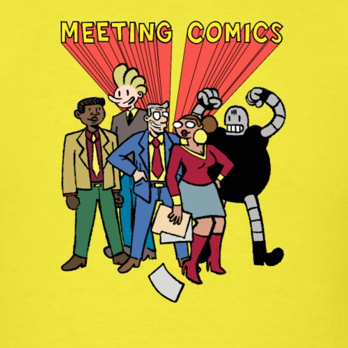 MEETING COMICS CAST - Men's T-Shirt
