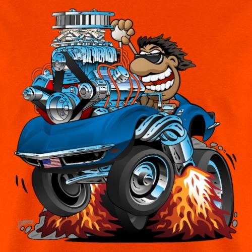 Classic '69 American Sports Car Cartoon - Men's T-Shirt