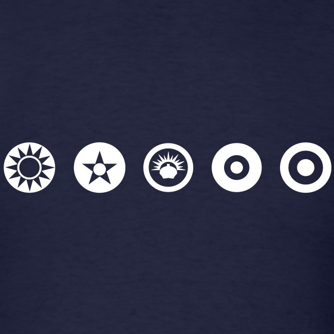 Axis & Allies Logos: China, USA, ANZAC, UK, France