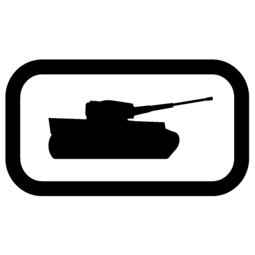 Tank Logo (Black) - Axis & Allies