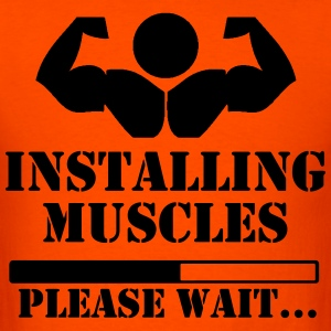 Installing muscles, please wait loading - Men's T-Shirt