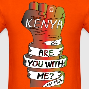 Kenya Are You With Me Movement T-Shirt - Men's T-Shirt