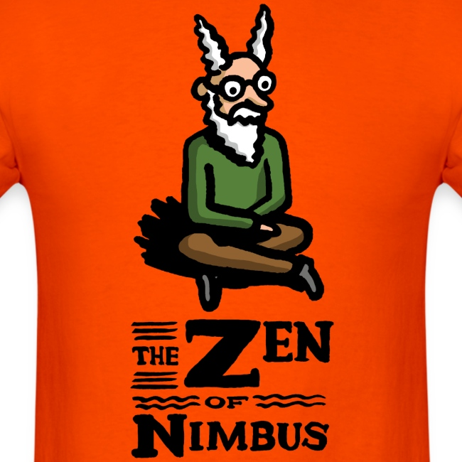 Nimbus character in color and logo vertical