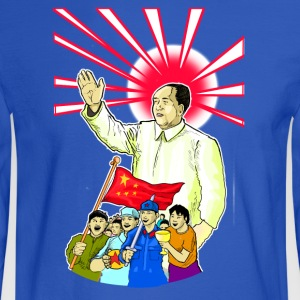 Mao Waves To His Supporters - Men's Long Sleeve T-Shirt