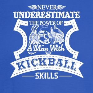Man With Kickball Skills Shirt - Men's Long Sleeve T-Shirt