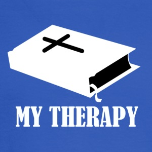 Reading the Bible is my therapy - Men's Long Sleeve T-Shirt